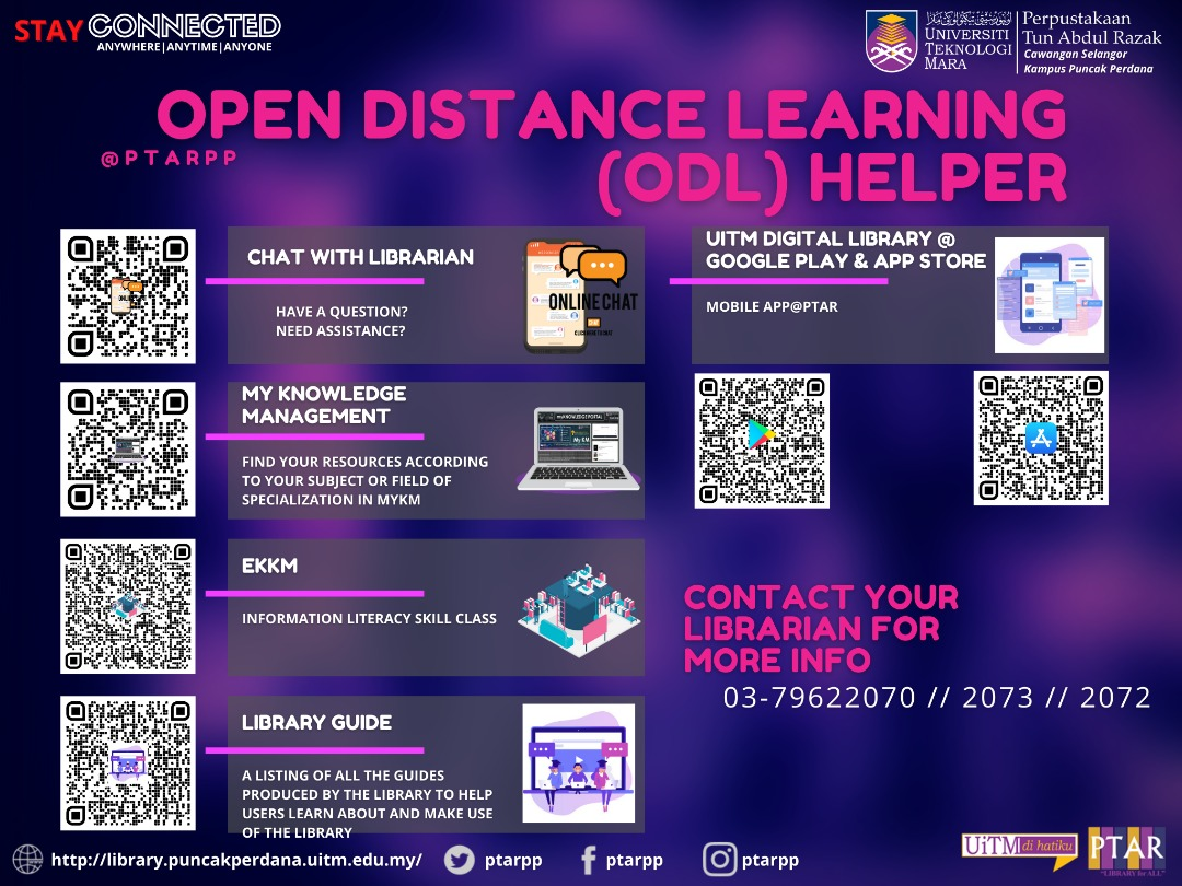 STAY CONNECTED - JUST SCAN THE QR CODE TO HELP YOU WITH YOUR OPEN AND DISTANCE LEARNING (ODL)